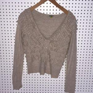 Anthropologie Leifsdottir Ruffle cardigan sweater